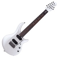 Photo STERLING BY MUSIC MAN JOHN PETRUCCI MAJ170X PEARL WHITE
