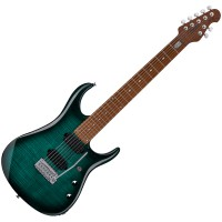 Photo STERLING BY MUSIC MAN JOHN PETRUCCI JP157 FLAME MAPLE TEAL