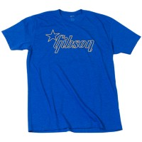 Photo GIBSON T-SHIRT STAR LOGO BLUE LARGE