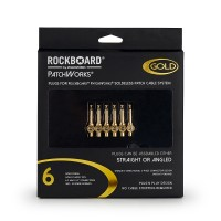 Photo ROCKBOARD PLUGS POUR PATCHWORKS SOLDERLESS X6 GOLD