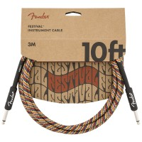 Photo FENDER CABLE SERIES FESTIVAL INSTRUMENT RAINBOW 3 M DROIT/DROIT