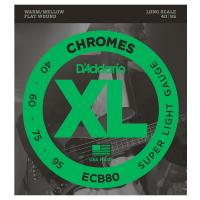 Photo D'ADDARIO ECB80 XL CHROMES SUPER LIGHT 40/95 LONG SCALE