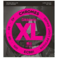 Photo D'ADDARIO ECB81 XL CHROMES REGULAR LIGHT 45/100 LONG SCALE