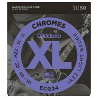 Photo D'ADDARIO ECG24 XL CHROMES JAZZ LIGHT 11/50
