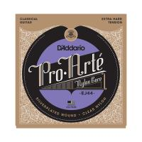 Photo D'ADDARIO EJ44 PRO ARTE EXTRA HARD TENSION SILVER/CLEAR