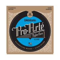 Photo D'ADDARIO EJ46 PRO ARTE HARD TENSION SILVER/CLEAR