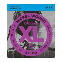 Photo D'ADDARIO EXL120 NICKEL WOUND SUPER LIGHT 9/42