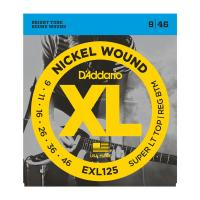 Photo D'ADDARIO EXL125 NICKEL WOUND SUPER LIGHT TOP/REGULAR BOTTOM 9/46
