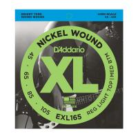 Photo D'ADDARIO EXL165 NICKEL WOUND BASS CUSTOM LIGHT 45/105 LONG SCALE