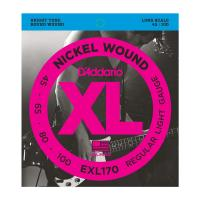 Photo D'ADDARIO EXL170 NICKEL WOUND BASS LIGHT 45/100 LONG SCALE