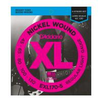 Photo D'ADDARIO EXL170-5 NICKEL WOUND 5-ST BASS LIGHT 45/130 LONG SCALE