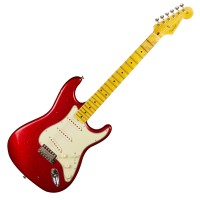 Photo FENDER CUSTOM SHOP 62 STRATOCASTER JOURNEYMAN RELIC RED SPARKLE