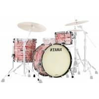 Photo TAMA MR32CZS-RWO - KIT STARCLASSIC MAPLE 3 FÛTS RED AND WHITE OYSTER