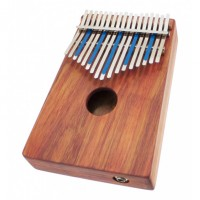 Photo HUGH TRACEY KALIMBA TREBLE 17 NOTES SUR BOÎTE + PICKUP