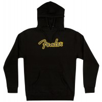 Photo FENDER YELLOW STITCH LOGO HOODIE BLACK L