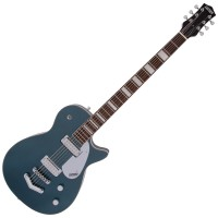 Photo GRETSCH GUITARS G5260 ELECTROMATIC JET BARITONE JADE GREY METALLIC
