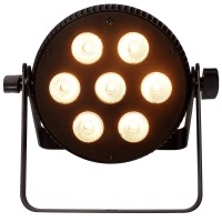 Photo ALGAM LIGHTING SLIMPAR-710-HEX - PROJECTEUR À 7 LED RGBWAU 10W