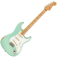 Photo FENDER VINTERA ROAD WORN 50'S STRATOCASTER SURF GREEN - EDITION LIMITÉE