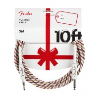 Photo FENDER YULETIDE CABLE 10FT RED GREEN
