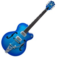 Photo GRETSCH GUITARS G6120T-HR BRIAN SETZER HOT ROD CANDY BLUE