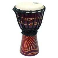 Photo TANGA DJEMBE 14'' ROUGE SCULPTE