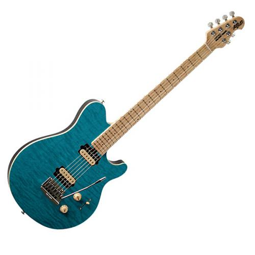 MUSIC MAN AXIS SUPER SPORT HH TRANSLUCENT BLUE MN