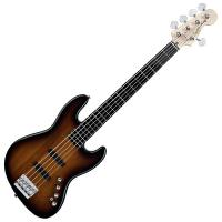 Photo SQUIER DELUXE JAZZ BASS V ACTIVE 3 COLOR SUNBURST