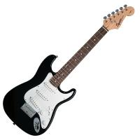 Photo SQUIER MINI STRATOCASTER BLACK ROSEWOOD