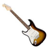 Photo FENDER STANDARD STRATOCASTER BROWN SUNBURST ROSEWOOD GAUCHER