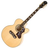Photo EPIPHONE EJ-200CE NATURELLE GOLD
