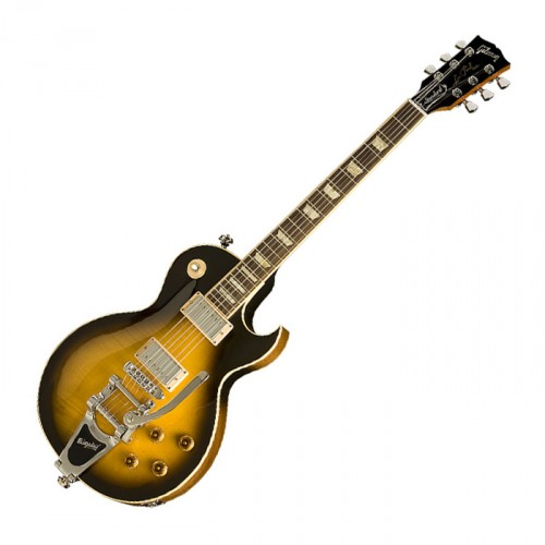 GIBSON LES PAUL FLORENTINE WITH BIGSBY VINTAGE SUNBURST